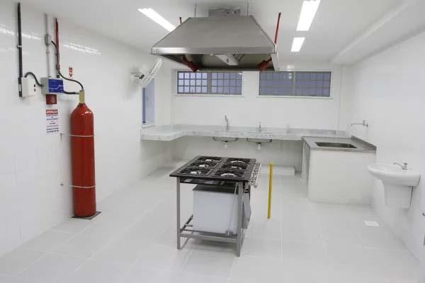 Extintor de incêndio para cozinha industrial