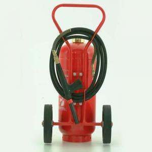 Extintor de incêndio sobre rodas
